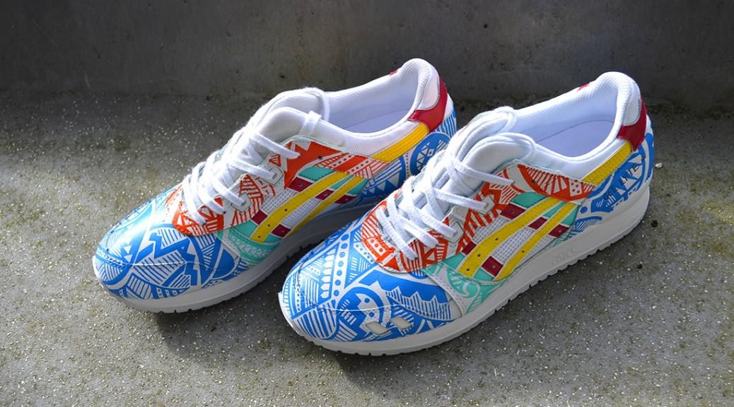 Footwear Customs: All White Asics